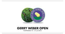 13-21 juin 2015 Gerry Weber Open